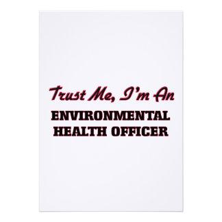 Confie que eu mim é um oficial de saúde ambiental convites