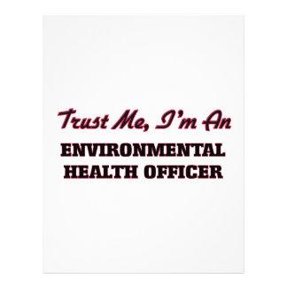 Confie que eu mim é um oficial de saúde ambiental modelo de panfleto