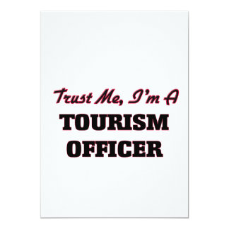 Confie que eu mim é um oficial do turismo convite 12.7 x 17.78cm