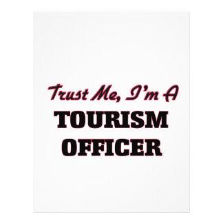 Confie que eu mim é um oficial do turismo panfletos personalizado