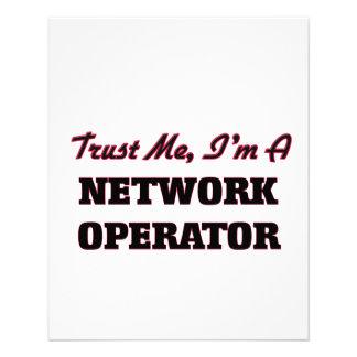 Confie que eu mim é um operador de rede panfleto coloridos