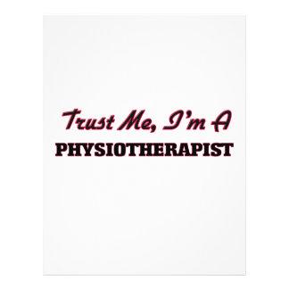 Confie que eu mim é um Physioarapist Modelo De Panfleto
