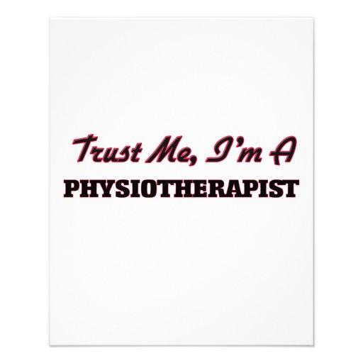 Confie que eu mim é um Physioarapist Panfletos