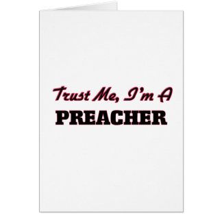 Confie que eu mim é um pregador cartão comemorativo
