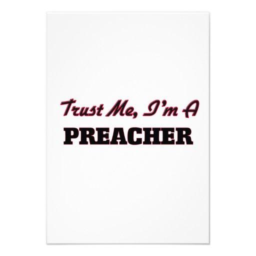 Confie que eu mim é um pregador convite personalizado