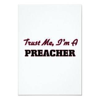 Confie que eu mim é um pregador convite 8.89 x 12.7cm