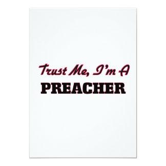 Confie que eu mim é um pregador convite 12.7 x 17.78cm