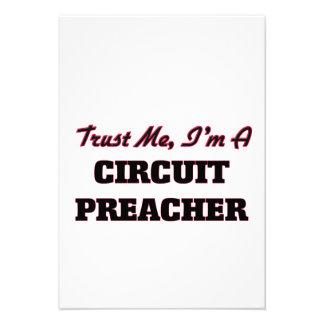 Confie que eu mim é um pregador do circuito convite personalizado