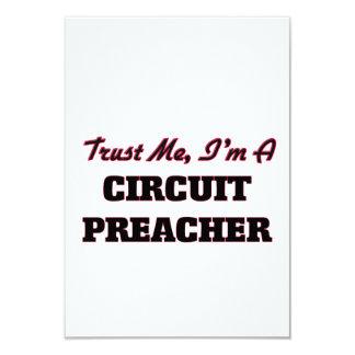 Confie que eu mim é um pregador do circuito convite 8.89 x 12.7cm