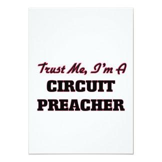 Confie que eu mim é um pregador do circuito convite 12.7 x 17.78cm