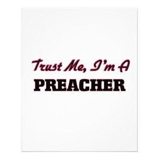 Confie que eu mim é um pregador panfleto personalizados