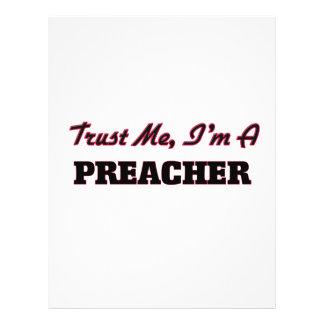 Confie que eu mim é um pregador modelos de panfleto