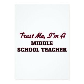 Confie que eu mim é um professor de escola convites personalizado