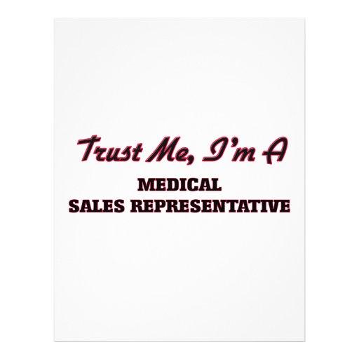 Confie que eu mim é um representante de vendas panfleto personalizados