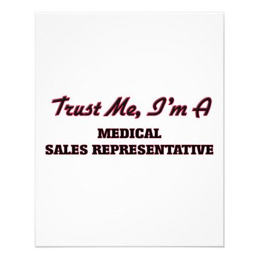 Confie que eu mim é um representante de vendas panfleto