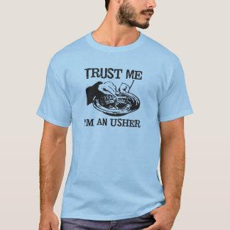 Confie que eu mim é uma camiseta engraçada do