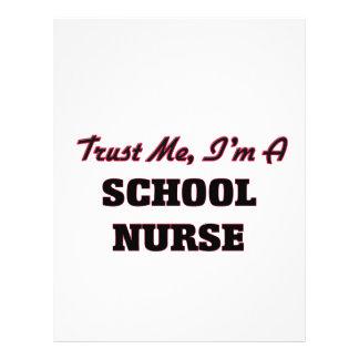 Confie que eu mim é uma enfermeira da escola panfletos personalizados