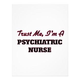 Confie que eu mim é uma enfermeira psiquiátrica panfleto