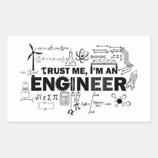 Confie que eu mim é uma etiqueta do engenheiro