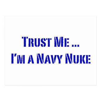 Confie que eu mim é umas armas nucleares do cartão postal