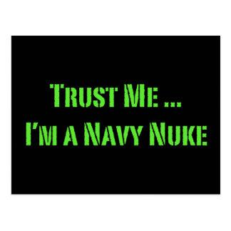 Confie que eu mim é umas armas nucleares do marinh cartão postal