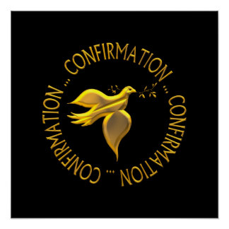Confirmação dourada e Espírito Santo Poster