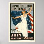 Confirme nossa honra - se junte ao marinho do exér poster
