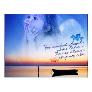 conforto dos anjos cartão postal