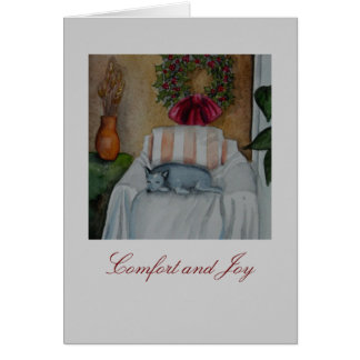 Conforto e alegria cartão comemorativo