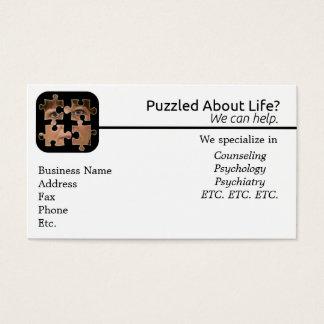 Confundido sobre o cartão de visita da vida