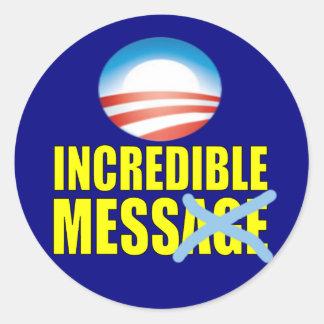 Confusão incrível - anti Obama Adesivos Em Formato Redondos