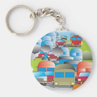 congestionamento rua cheia de carros desenho color chaveiro