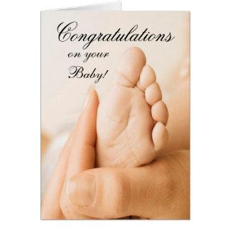 Congratlations em seu cartão do bebê