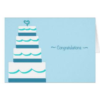 Congrats & cumprimentos cartão Wedding
