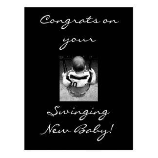 Congrats do bebê cartão postal
