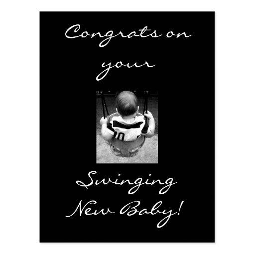 Congrats do bebê cartoes postais