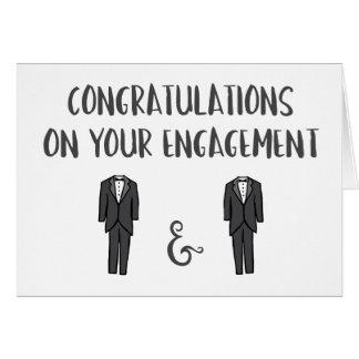 Congrats em seu noivado - casal alegre cartão comemorativo