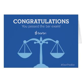 Congrats você passou o cartão do exame de bar