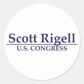 Congresso de Scott Rigell E U Adesivo Redondo