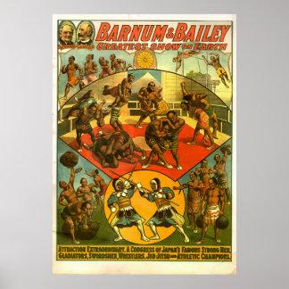 Congresso do poster famoso dos homens fortes de