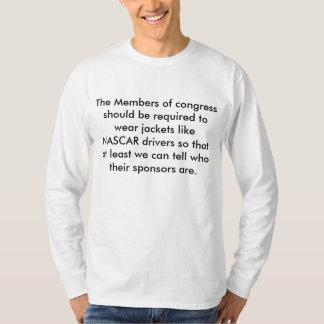 Congresso e camisa de NASCAR T-shirt