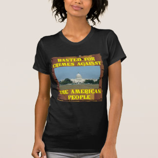 Congresso; Querido para crimes contra América Camisetas