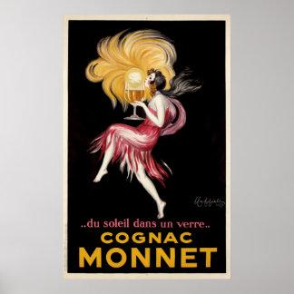 Conhaque Monnet pelo poster vintage de Cappiello