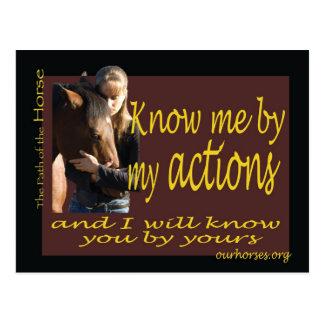 Conheça-me por meu cartão das ações