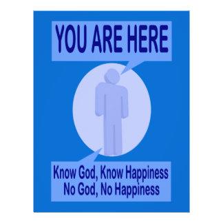 Conheça o deus, saiba a felicidade panfletos