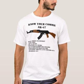 Conheça seu Commie AK-47 Camiseta