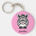 Conhecido personalizado - chaveiro bonito da zebra
