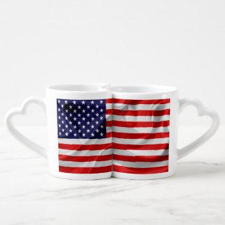 Conjunto De Caneca De Café A bandeira dos Estados Unidos da América