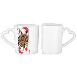 Conjunto De Caneca De Café A rainha do Feliz Natal de Diamante-Adiciona suas