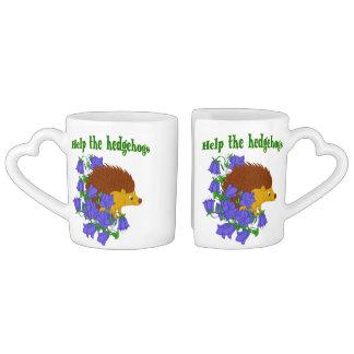 Conjunto De Caneca De Café Ajude os ouriços